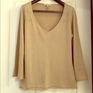 Burberry silk cashmere tan beige top NWOT
